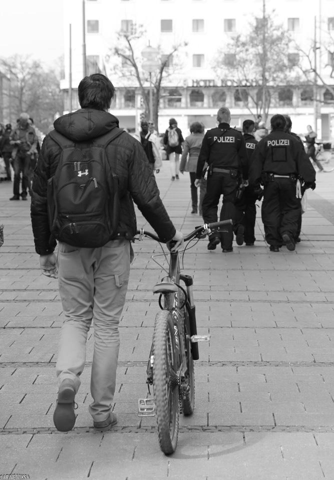 Street mit Polizei